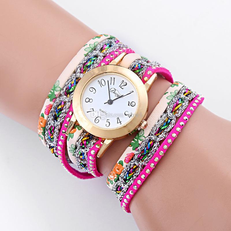 Super Deal, Moda Feminina Relógios Retro Pulseira de Relógio De Couro Sintético De Quartzo Relógio De Cristal Bling Vestido Montre Relogio