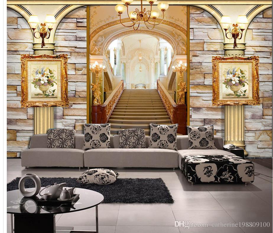 Acquista carta da parati 3d carta da parati classica della for Carta decorativa per pareti