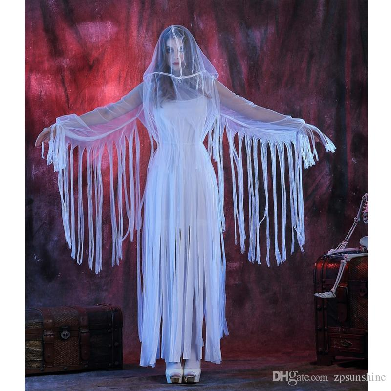 Halloween Costume Role Playing Corpse Bride Clothing White Bar ...