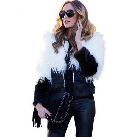 2016100928 Chic sıcak taklit kürk kadın Kabarık uzun kollu kadın giyim Siyah sonbahar kış kısa ceket ceket tüylü palto