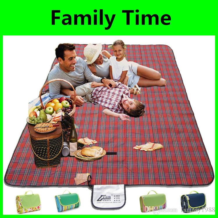 Oxford Cloth Outdoors Camping Pads a Picnic Blanket BBQ Easy Carry Outdoor Travel Famliy Party Rug 145*180CM Fast Shipping