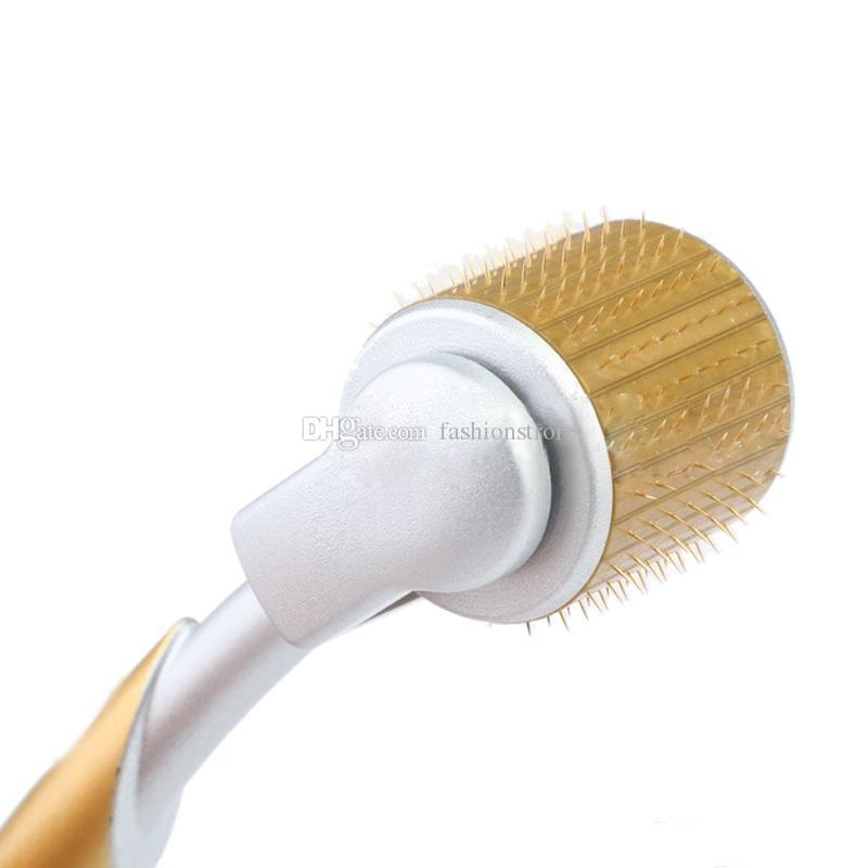 ZGTS Luxury Microneedle Therapy Derma Roller Titanium Needles Acne Scars Acne Facial Massage Roller For Facial lifting