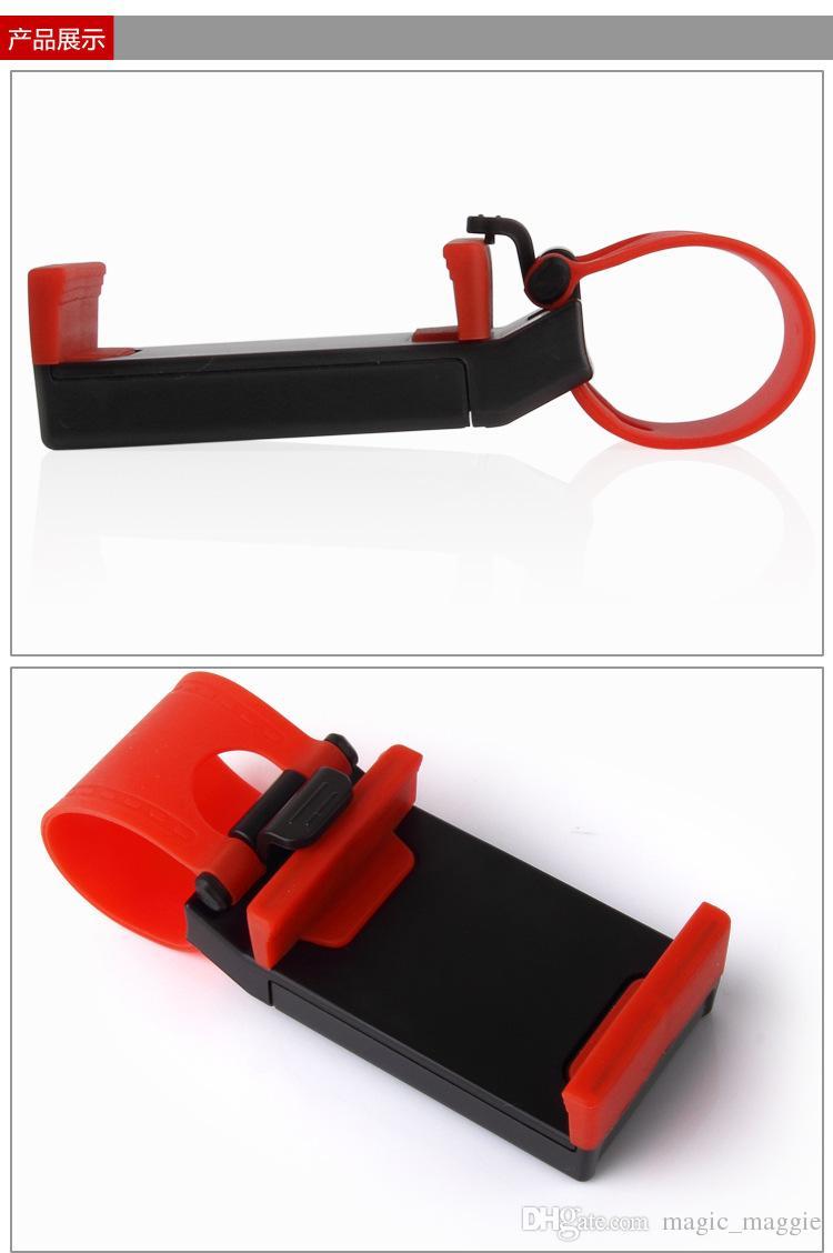 Universal-Fahrzeug-Lenkrad-Handy-Auto-Halter-Klipp-Auto-Fahrrad-Berg-Handy-Befestigungen ABS PC örtlich festgelegter Handy-Halter für Auto Usag