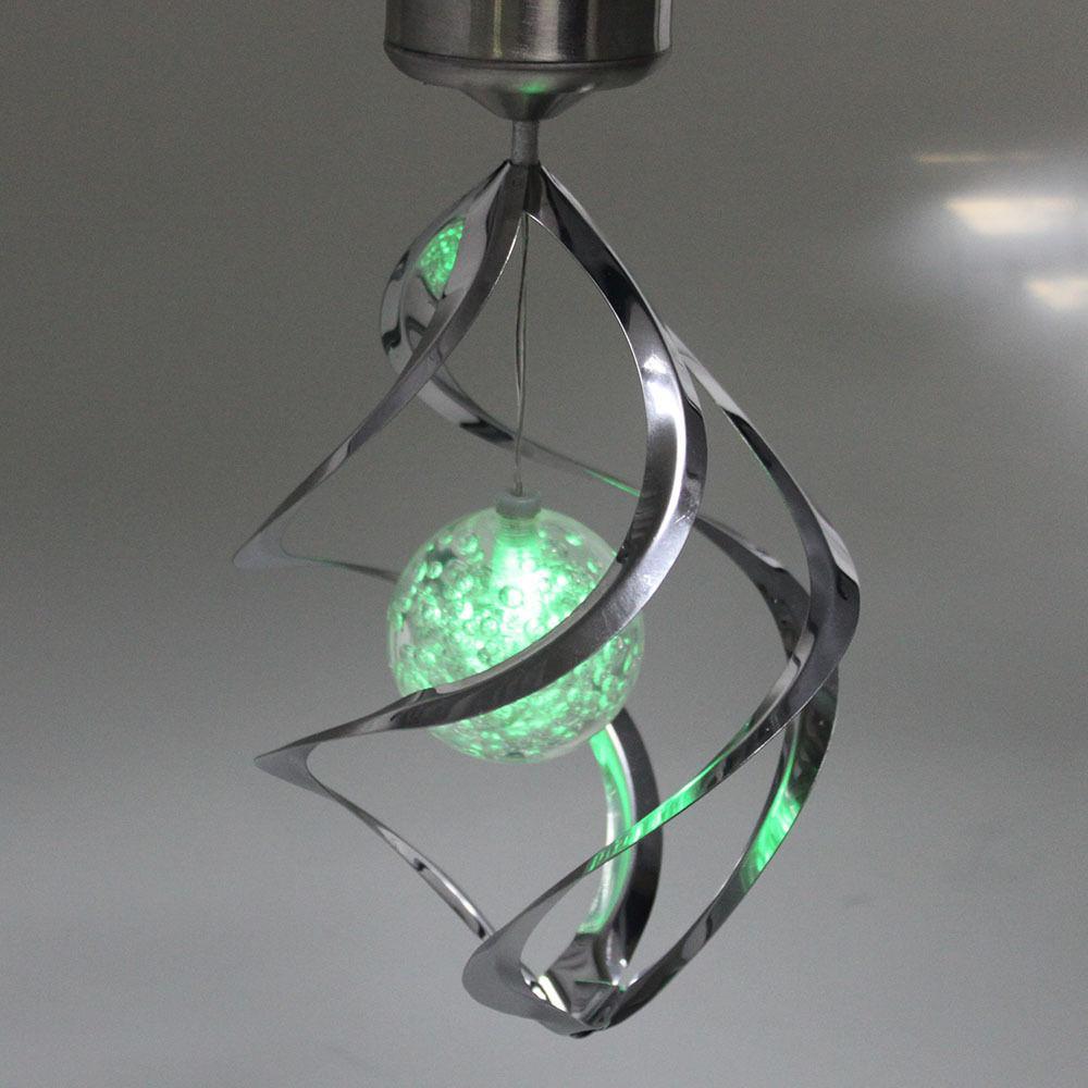 Hot New Couleur solaire Changer vent Spinner LED jardin lampe de jardin Décoration Poster Cap B245