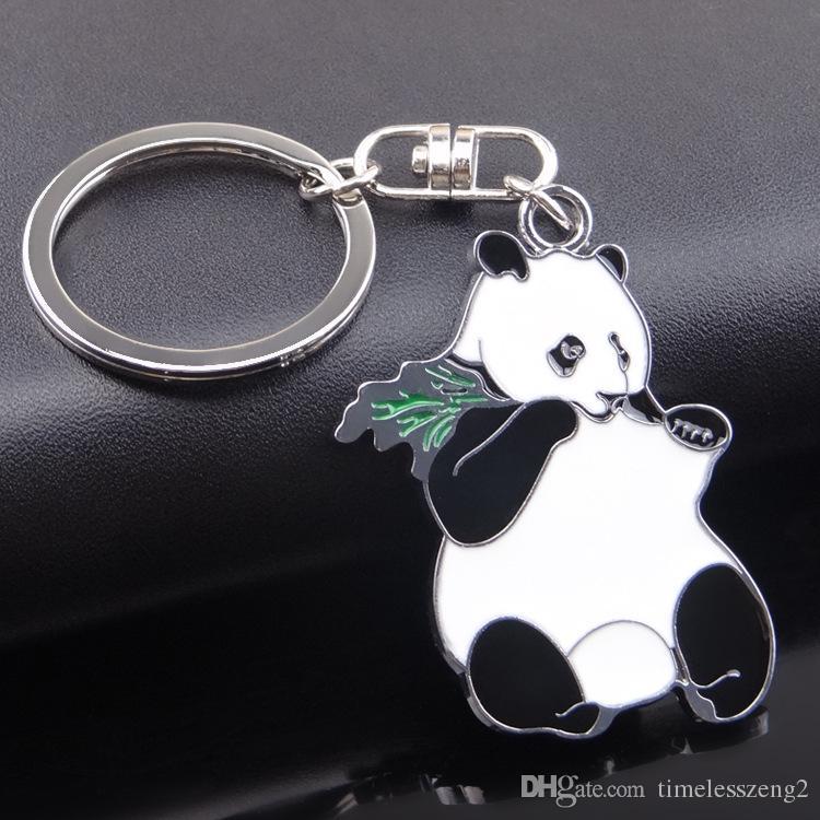 Portachiavi adorabile del panda Ornamento del metallo nella stampa su ordinazione dell'animale domestico dell'anello chiave dell'anello chiave dell'animale domestico dei regali creativi della catena chiave