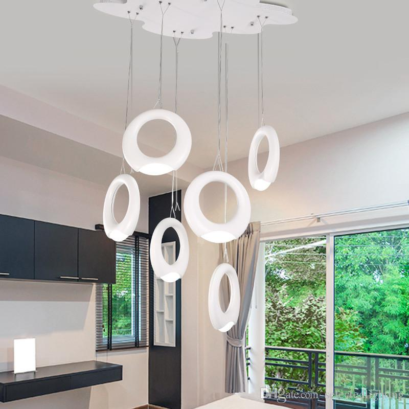 Brand new high lumen led bedroom light acrylic lampshade led bulb light pendant lamp indoor lighting decoration semi flush ceiling lights contemporary
