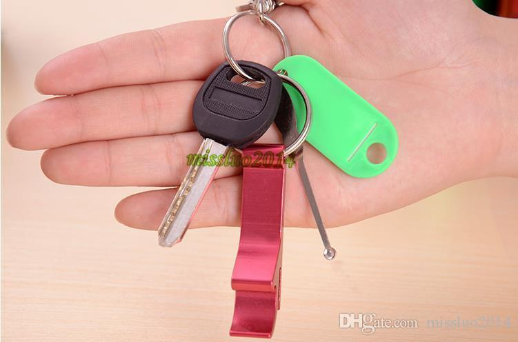 2016 METAL ALUMINUM ALLOY KEYCHAIN KEY CHAIN RING WITH BEER BOTTLE OPENER CUSTOM PERSONALIZED,laser engraving DHL FEDEX