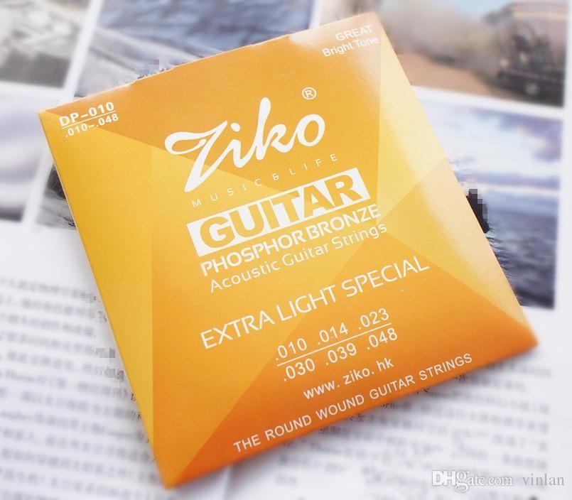 010-048 ZIKO Acoustic guitare cordes instruments de musique PHOSPHOR BRONZE Cordes pièces de guitare en gros