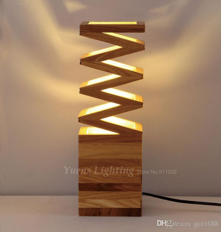 Best Quality Modern Solid Wood Art Creative Individuality Bedroom Bedside  Lights Study Shop Restaurant Wooden Desk Lamp 257 N07 At Cheap Price,  Online Table ...