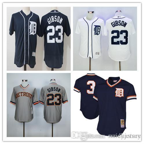 807dc03e194 ... Detroit Tigers Throwback Jerseys 23 Kirk Gibson 3 Alan Trammell 6 Al  Kaline Mitchell Ness 1984 ...