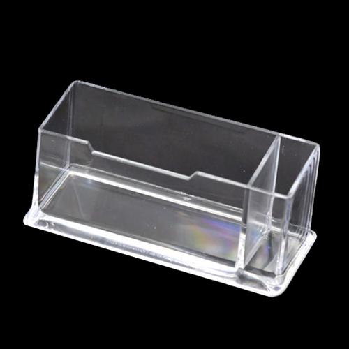 Wholesale perfect clear plastic business card holder stand display wholesale perfect clear plastic business card holder stand display with pen stand 12cm x 5cm x 4cm pen card holder display stand clear display stand online colourmoves