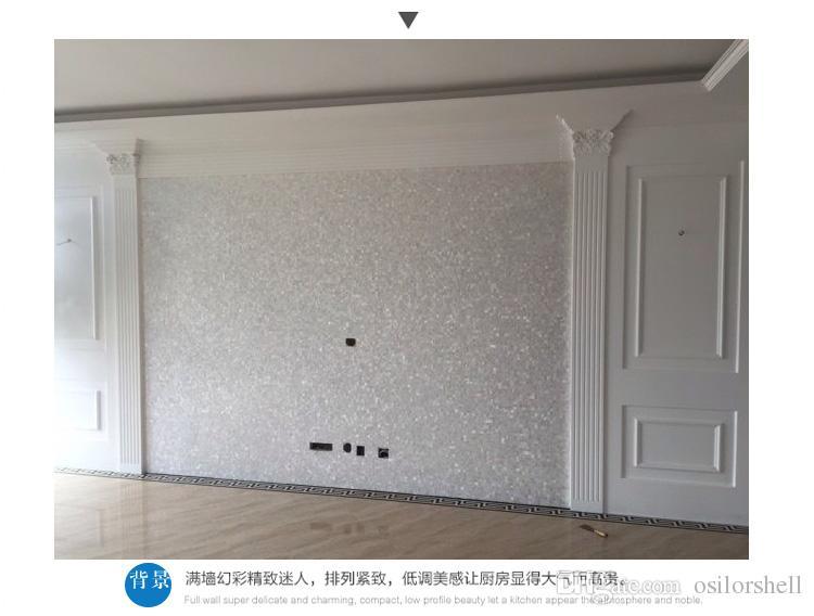 Китайская пресноводная раковина перламутровая мозаичная плитка для интерьера украшения дома кухня и ванная комната настенная плитка бесшовные оболочки плитка белый