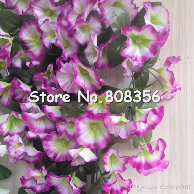 Morning Glory Rebe Hängen Reben Blumen für Hochzeit Artificial Dekorative Wandbehang Blume 5 Farben