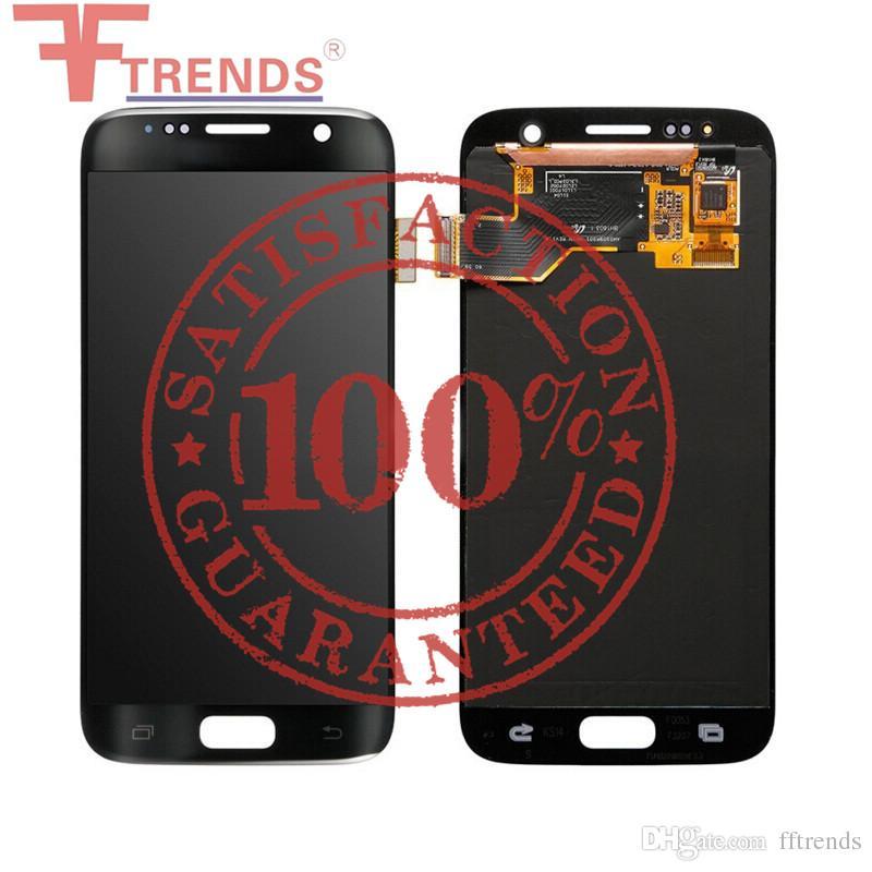 Orijinal Samsung Galaxy S7 için LCD Ekran Dokunmatik Ekran Digitizer Meclisi G930F G930FD G930A G930P G930 G930V G930T 100% Test Ücr ...