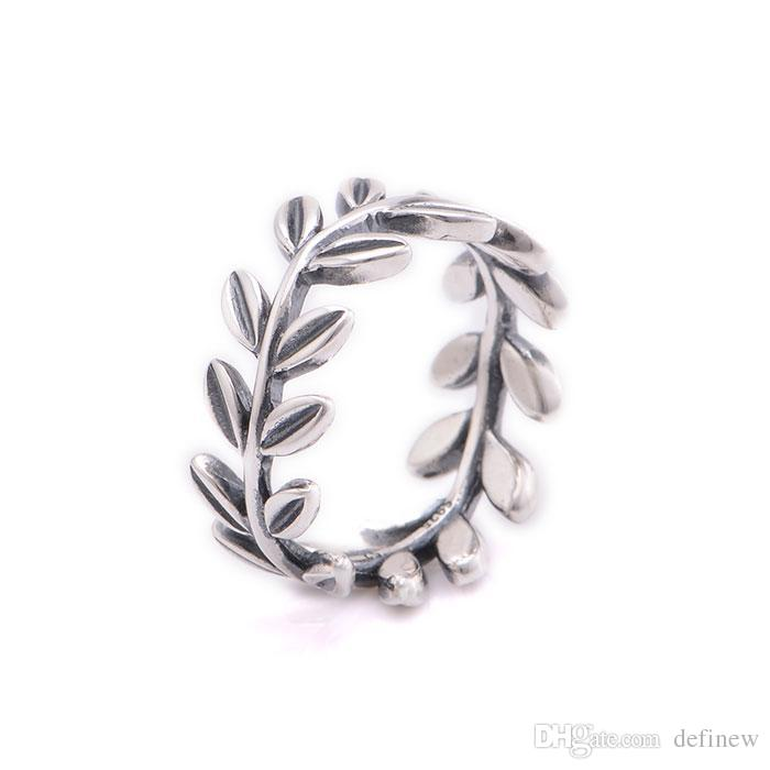rings jewelry female adjustable fresh sterling leaf new silver ring fashion small forefinger simple