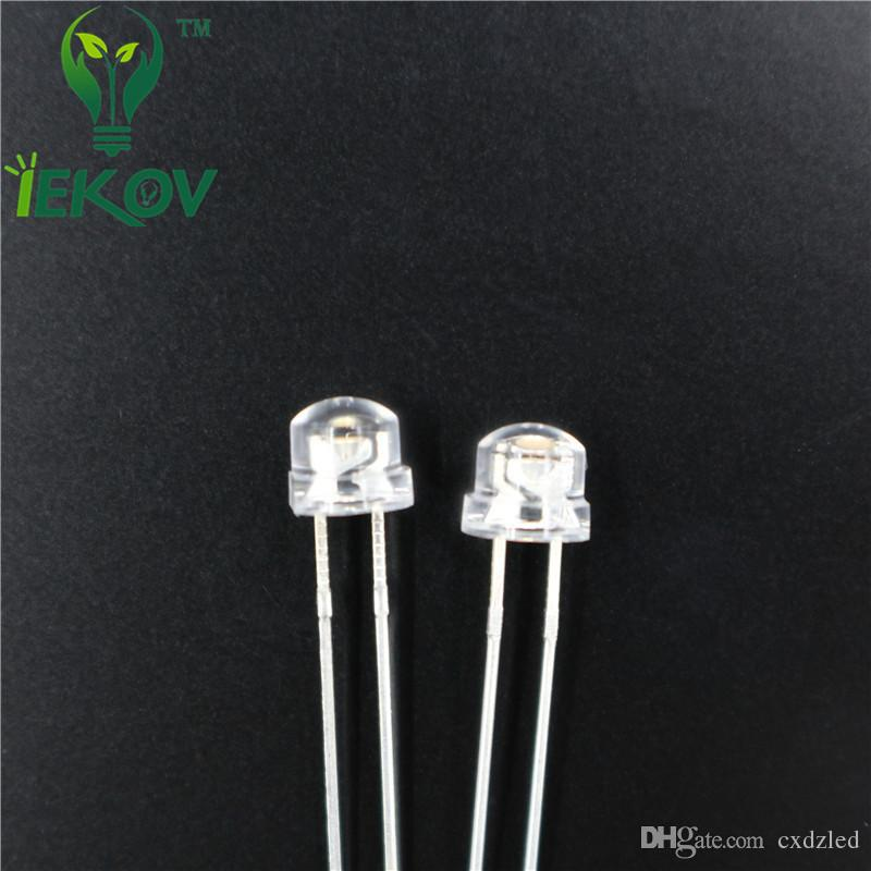 High Quality /bag 5mm straw hat super bright Orange/Amber light-emitting diode DIP LED astigmia Wholesale Hot Sale