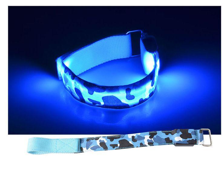 LED glow running wrist strap outdoor sports safety alert flash bracelet cycling reflective light armband 3 modes