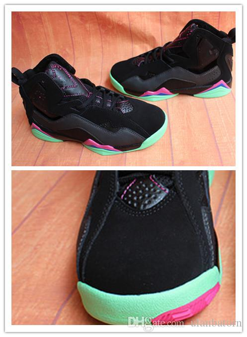 new product 79f2c 5d4a0 7 True Flight new design shoes for women girl sneakers trainers VII 7s high  quality comfortable green black