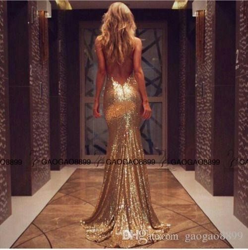 2017 Gorgeous Mermaid Long Sparkly Sequined Cheap Evening Party Dresses Spaghetti Backless Shiny Sequins Fishtail Party Cocktail Gowns