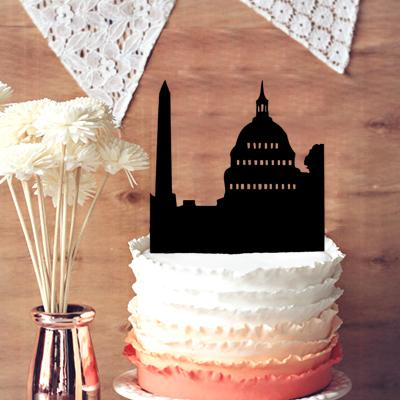 Wedding Cake Topper Building Anniversary Wedding Decor Wedding