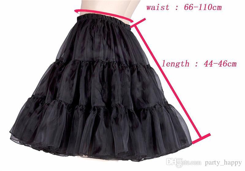 Hochzeitsaccessoires Multicolor Kurzes Kleid Petticoat Kleiner Rock Rand Kristallgarn, Kurzer Petticoat Krinoline Unterrock Rock rutscht