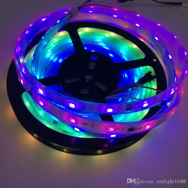Ws2811 led streifen 5050 smd rgb 30/60 leds / m 5 mt dc 12 v traum magie farbe adressierbar digitalband 1 ic steuerung 3 led