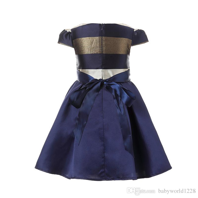 Abbigliamento bambini Abiti bambini Bambini ragazza banda Senza maniche Big bow tutu Princess Dress for Toddler Girl Party and wedding