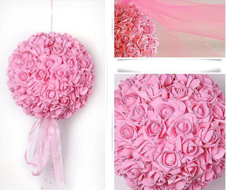 28cm Wedding Silk Flowers Ball Fake Flower Decorate Flower Artificial Flower for Wedding Garden Home Decoration