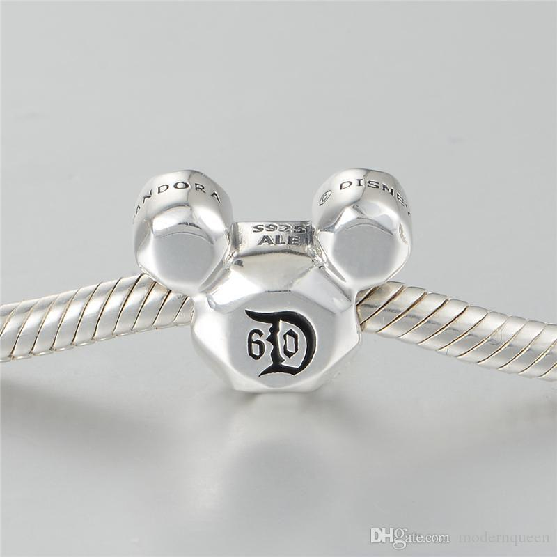 Fashion Women Jewelry 60th Anniversary Charm S925 Sterling Silver adatti Braccialetti stile fai da te H9