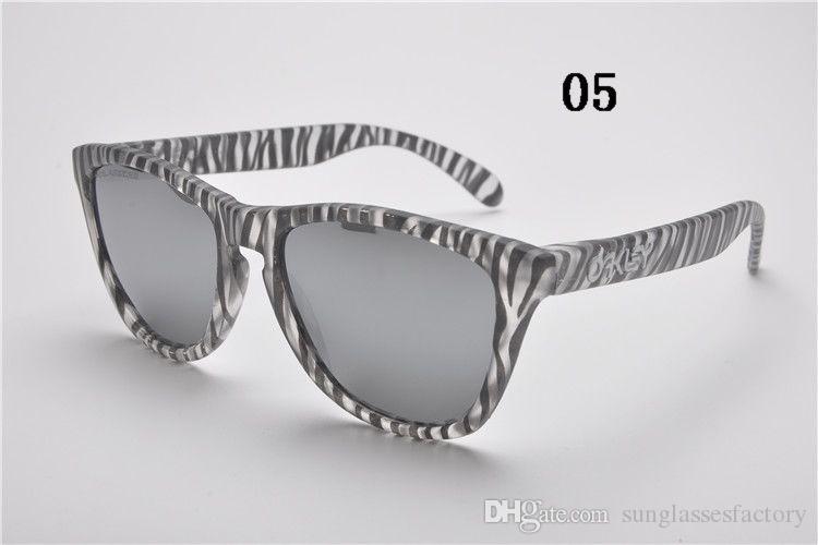 جديد وصول كلاسيكي الضفدع نمط نظارات شمسية ماركة أزياء عاكسة عدسة النظارات لصيف الدراجات نظارات الاستقطاب
