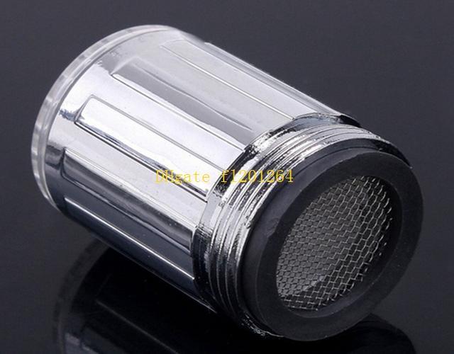 / Livraison Gratuite En Gros Facile à Installer LED Robinet D'eau Lumière 7 Couleurs Changement Glow Shower Stream Tap