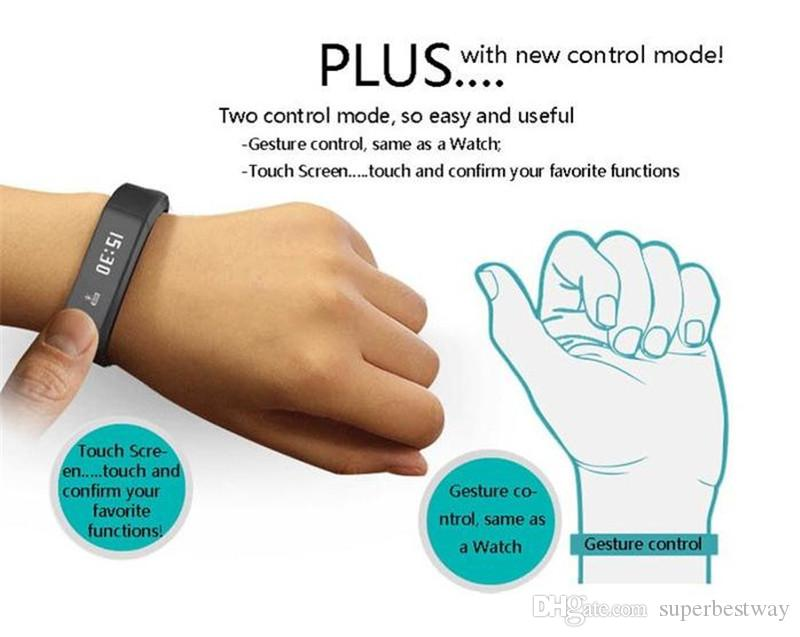 Excelvan I5 Plus Smart Bracelet Bluetooth 4.0 Waterproof Touch Screen Fitness Tracker Health Wristband Sleep Monitor Smart Watch OTH290
