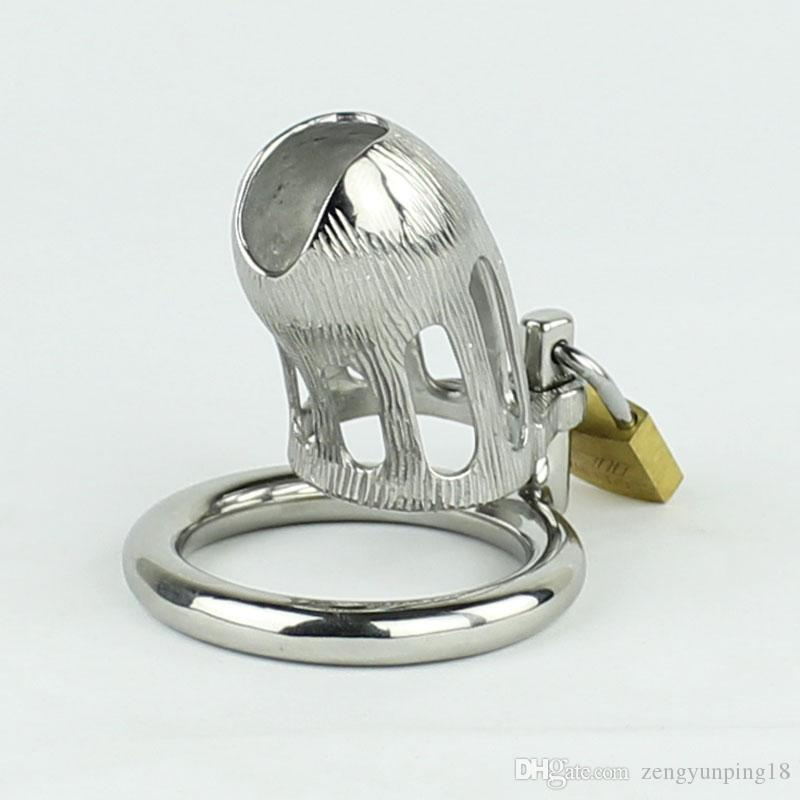 Male Chastity Devices Stainless Steel Cock Cage Metal Cock Lock Bondage Gear Adult Toys Sex Products