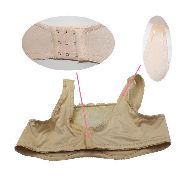 Бесплатная доставка высокое качество сексуальный прозрачный кружевной бюстгальтер для транссексуалов трансгендеров носить с цельными силиконовыми формами груди