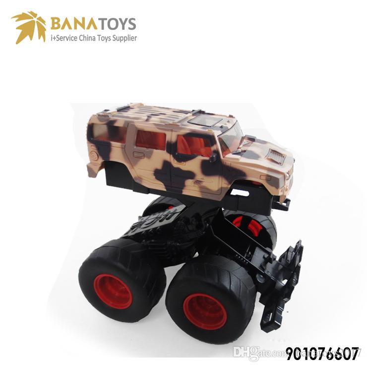 Children's inertia bounce camouflage buggy buggy toy model SUV stunt inertia beach accessories high quality mini die-casting car model SUV