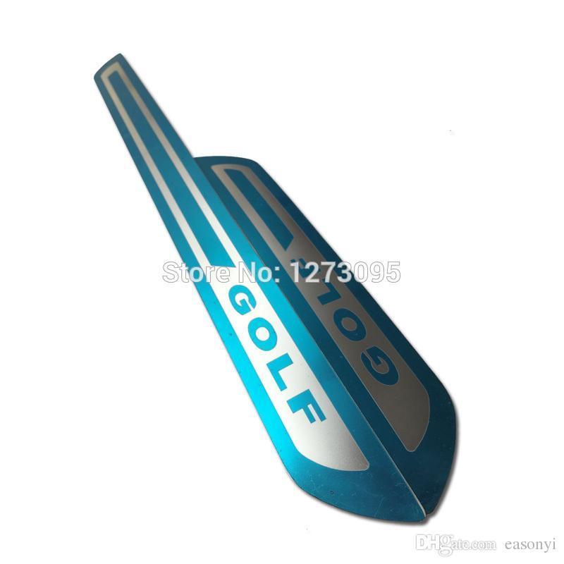 폭스 바겐 골프에 의해 6 MK6 울트라 얇은 스테인레스 스틸 스커프 플레이트 문 창턱 임계 지구에 오신 것을 환영합니다 페달 트림 보호에 대한 자동차 액세서리