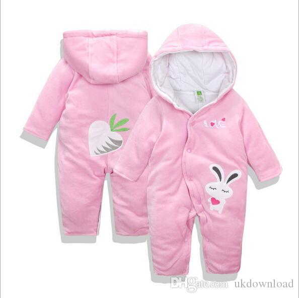 d37f04ee7 Baby Girls Clothes Cute Animal RabbitBaby Rompers Costume Winter ...