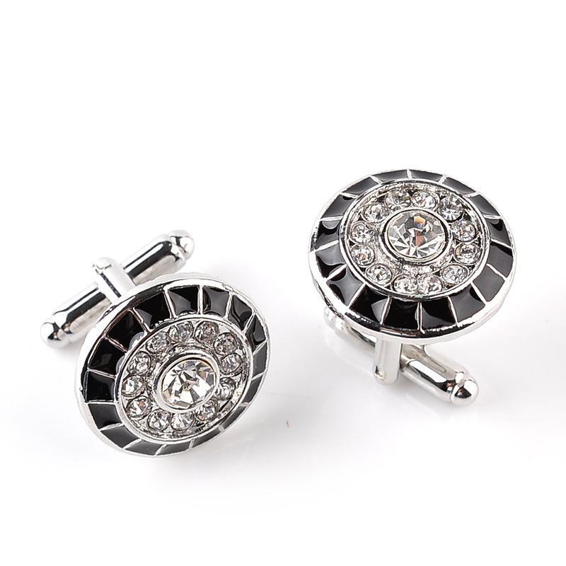 Cristal Cuff Links Diamante Cruz Sign Enamel Cufflinks Business Franch Camisetas Ternos Ternos Botão Will e Sandy Jewelry