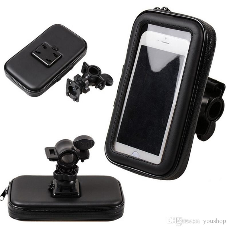Waterproof Pouch with Bike Phone Holder Handlebar Mount Cell Phone Holder for Samsung GALAXY S7 Edge S6 for iphone 7 5.5 Inch