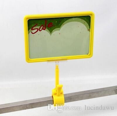 A5 frame with POP price ticket tag sign advertising poster clip holder display showing rack