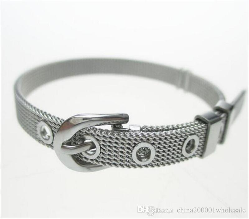 Kostenloser Versand!!! 10 teile / los 6mm Breite 21 cm Länge Stahl Armband Armband kann durch 6mm diacharme DIY zubehör kommen
