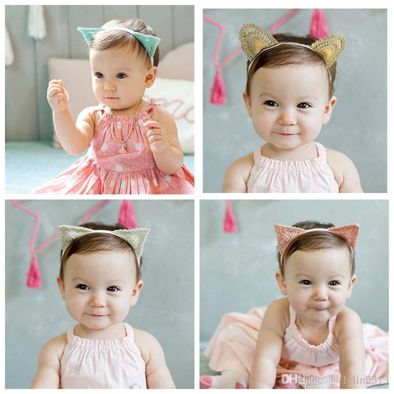 Image of: Pictures 2016 Nice Baby Girls Hair Accessory Korean Cute Cat Ear Children Headband Photo Pro Cute Hair Accessories Hair Accessories For Children From Lylin3313 Dhgatecom 2016 Nice Baby Girls Hair Accessory Korean Cute Cat Ear Children