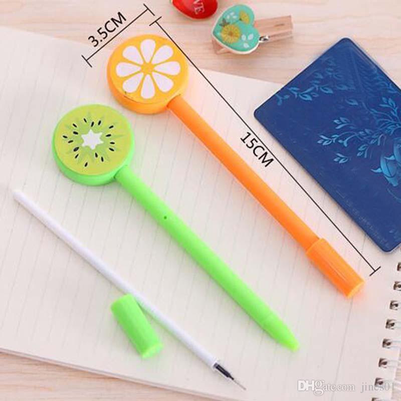 New Fruit Lollipops Gel Pen Watermelon Lemon 0.5mm Black ink For Students Gift Stationery Office School Supplies