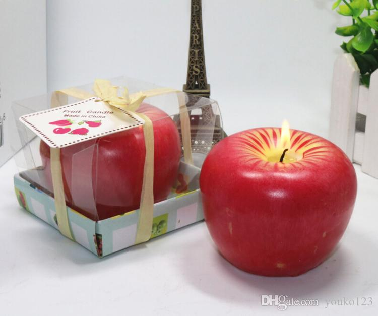 Simulation Fruit Candles Apple Candles Christmas Eve Gifts Christmas ...