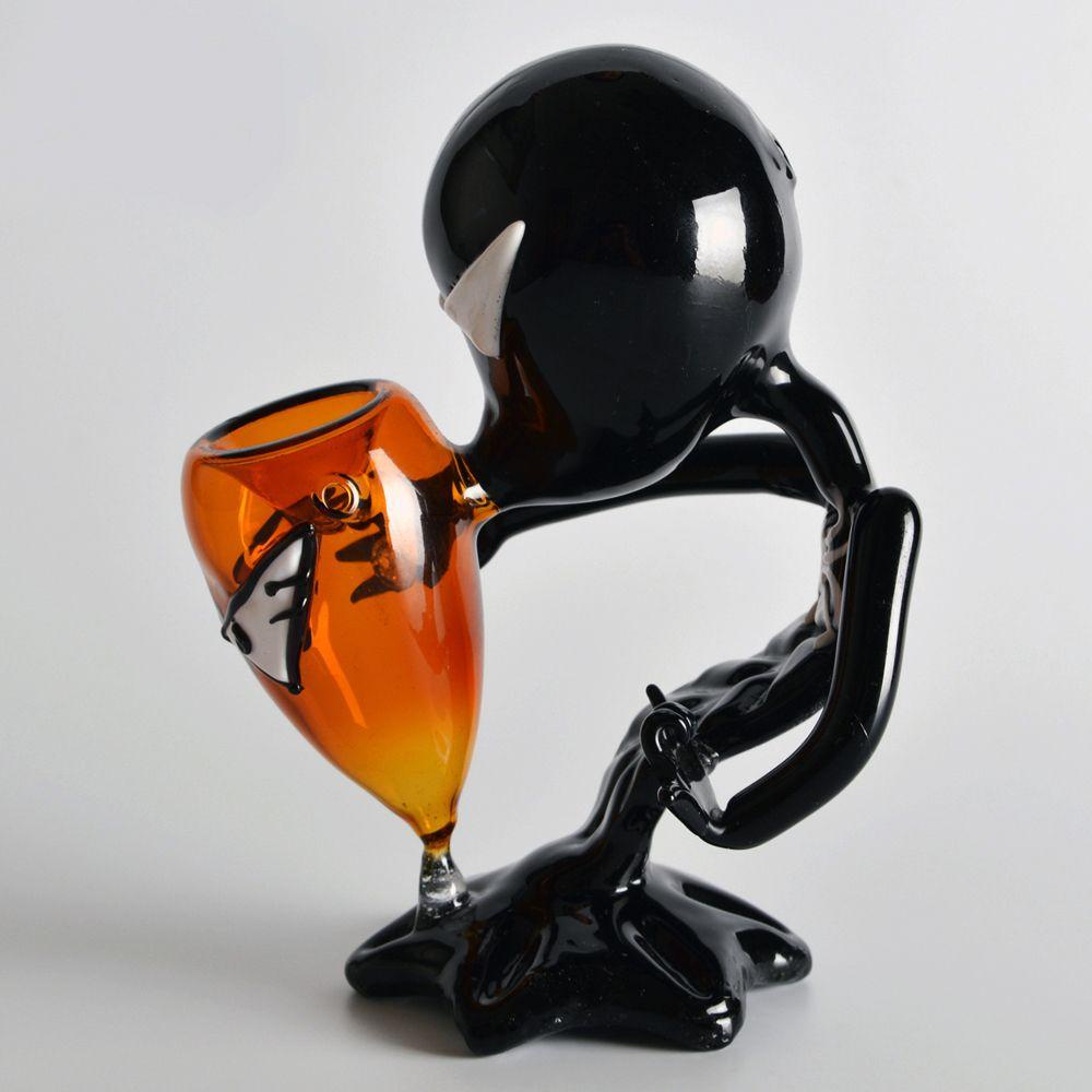Schwarz Alien Glaspfeifen Glaspfeifen Hohe Qualität Schwarz Alien Glaspfeifen Kostenloser Versand