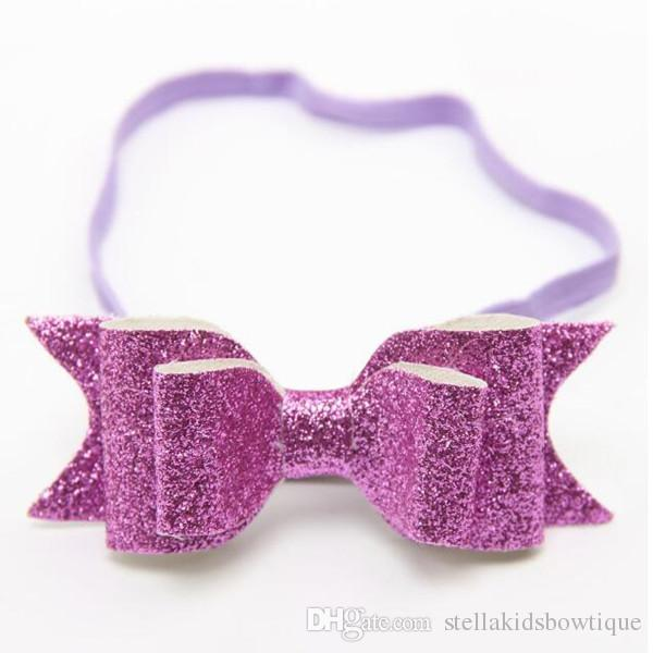 infant headbands bows,shiny bow baby headband ,sequins birthday photo prop ,Newborn Hair accessory,headband for kids