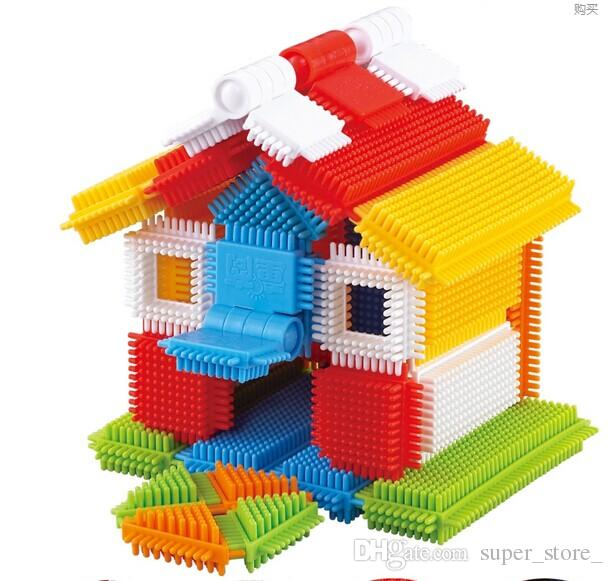 Creative Spiked Plastic Building blocks Children Assembly Early Toys  Parent-Children Interaction Educational Toy building blocks juguetes