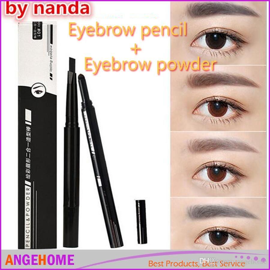 2016 New Color Painting Eyebrow Pencil 2 In 1 Waterproof Brown Eye ...