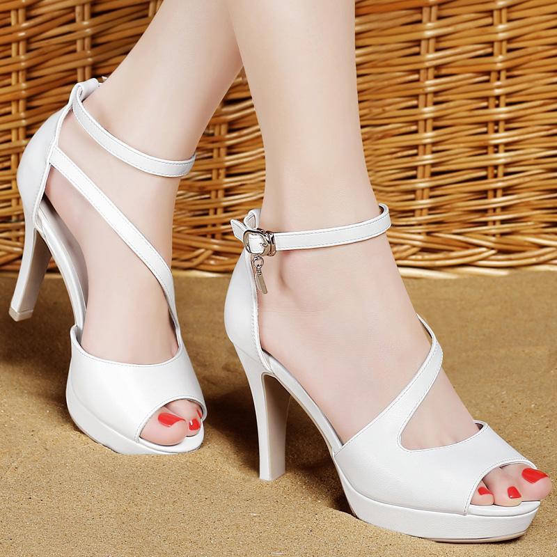 47321c59 Compre Aseguramiento De La Calidad Sandalias De Suela Gruesa Moda Elegantes  Tacones Altos Fiesta Vestido De Mujer Zapatos Importados Material Envío  Gratuito ...