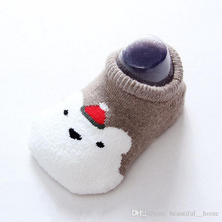 2017 Christmas stocking Lovely Cute Newborn Baby Socks Animal Cartoon Doll Infant Socks Model Anti-slip Boys Girls Socks free ship
